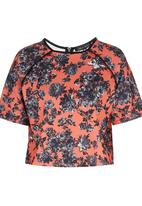Girls on Film - Floral Zip Top Multi-colour
