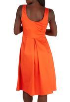 STYLE REPUBLIC - Fit & Flare Dress Orange