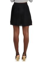 c(inch) - Pleated Mini Skirt Black