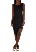 STYLE REPUBLIC - Drape Dress Black