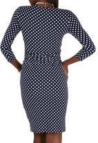 edit - Polka Dot Tie-around Dress Blue and White