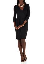 edit - Tie-around Dress Black