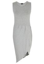 STYLE REPUBLIC - Drape Dress Mid Grey