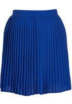 c(inch) - Pleated Mini Skirt Mid Blue