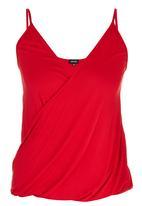 c(inch) - Drape Cami Red