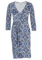 edit - Print Tie-around Dress Multi-colour