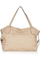 Marie Claire - Tote Bag with Buckle Details Stone/Beige