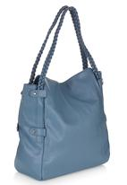 Marie Claire - Tote Bag with Handle Detail Mid Blue