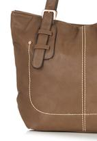 Marie Claire - Stitch Detail Handbag Dark Brown