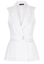 STYLE REPUBLIC - Sleeveless Trench White