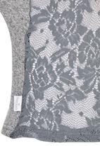 Precioux - Fitted Lace Back Top Grey