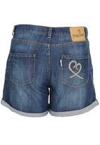 Precioux - Low Rise Denim Shorts Mid Blue
