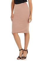 STYLE REPUBLIC - Pencil Skirt Mid Brown