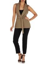 STYLE REPUBLIC - Sleeveless Trench Dark Green
