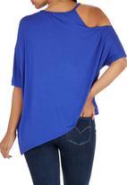 STYLE REPUBLIC - Asymmetrical T-shirt Cobalt