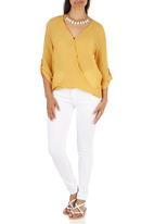 edit - Cross-over Blouse Yellow