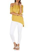 STYLE REPUBLIC - Asymmetrical T-shirt Yellow