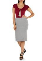STYLE REPUBLIC - Pencil Skirt Mid Grey