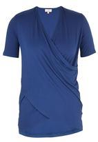 edit - Drape T-shirt Mid Blue