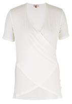 edit - Drape T-shirt Milk