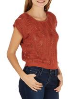 STYLE REPUBLIC - Knit Pull-over Cami Mid Brown
