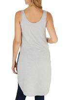 c(inch) - High Low Tank Top Pale Grey