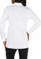 Cherry Melon - Long Sleeve Work Shirt White