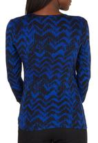 edit Maternity - 3/4 Sleeve Cross Over Top Black and Blue