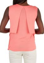 edit Maternity - Vest with Overlay Coral
