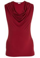 edit Maternity - Cowl-neck Top Dark Red