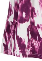 See-Saw - Tiered Dress Mid Purple