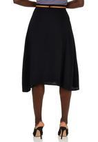 edit - A-line Button through Skirt Black