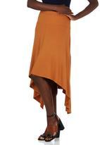 edit - Hanky Hem Midi Skirt Mid Brown