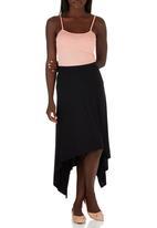edit - Hanky Hem Midi Skirt Black