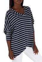 c(inch) - Hanky Hem T-shirt Navy