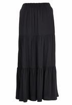 edit - Tiered Maxi Skirt Black