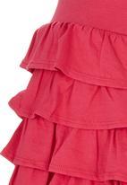 London Hub - Layered Dress Dark Pink