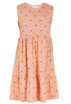 See-Saw - Tiered Dress Coral