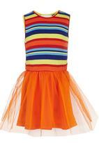 See-Saw - Tutu Combo Fabric Dress Orange