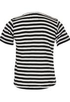 See-Saw - T-shirt with Bow Detail Black and White