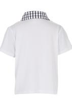 See-Saw - Golf Tee with Contrast Collar White