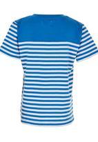 London Hub - Striped Tee Blue and White
