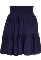 c(inch) - Tiered Midi Skirt Navy