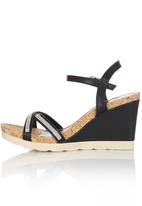 Bata - Diamante Detail Wedges Black