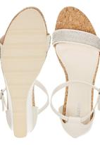 Bata - Diamante Detail Wedges White