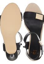 Bata - Gold Detail Ankle Strap Heels Black