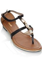 Bata - Gold Detail Sandals Black