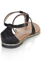 Bata - Gold Detail Sandals Black
