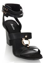 Bata - Ankle Strap Stack Heels Black