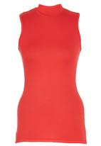 c(inch) - High Neck Top Coral